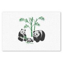 Panda Bear Family Tissue Paper