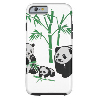 Panda Bear Family Tough iPhone 6 Case
