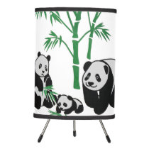 Panda Bear Family Tripod Lamp