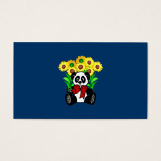Panda Bear Flowers Business Card