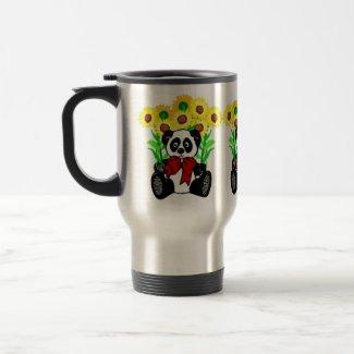 Panda Bear Flowers mug