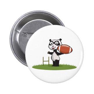 Panda Bear Football 2 Inch Round Button