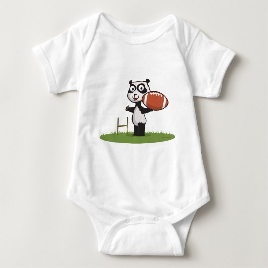 Panda Bear Football Baby Bodysuit