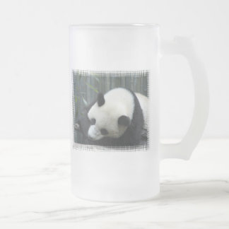 Panda Bear Frosted Beer Mug