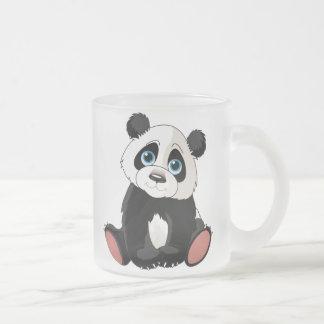Panda Bear Frosted Glass Coffee Mug