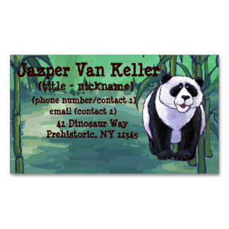 Panda Bear Gifts & Accessories Magnetic Business Cards (Pack Of 25)