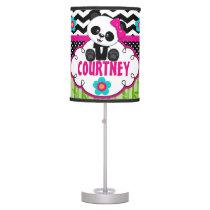 Panda Bear Girls Room Lampshade Personalized