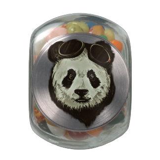 Panda Bear Glass Jar