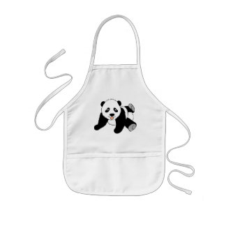 Panda Bear Graphic Kids' Apron