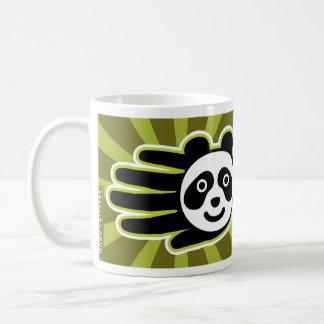 Panda Bear Hand Classic White Coffee Mug