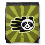 Hand shaped Panda Bear Hand Drawstring Bag