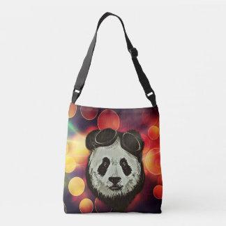 Panda Bear Hipster Style Tote Bag