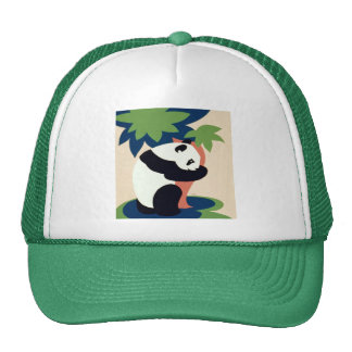 Panda Bear Hugging a Tree Trucker Hat