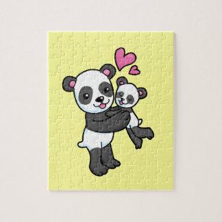 Panda Bear hugging baby bear Puzzles