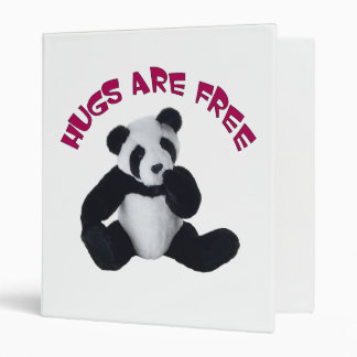 Panda bear hugs ring binder