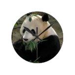 Panda Bear Hugs Round Wallclock