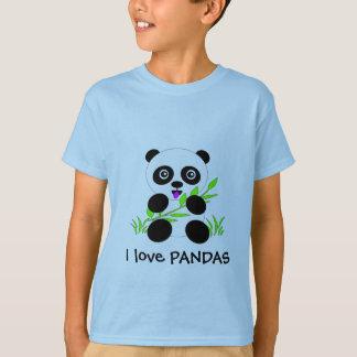 Panda Bear I love PANDAS Tshirt