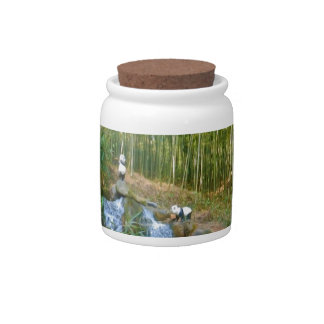 Panda Bear In A Bamboo Forest Candy Dishes