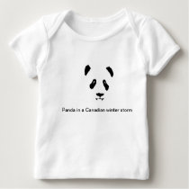 Panda Bear in a Canadian winter storm long sleeve Baby T-Shirt