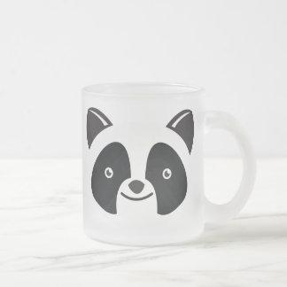 Panda Bear Kawaii face 10 Oz Frosted Glass Coffee Mug