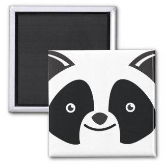 Panda Bear Kawaii face 2 Inch Square Magnet