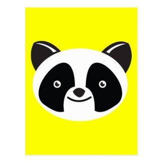 Panda Bear Kawaii face Postcard