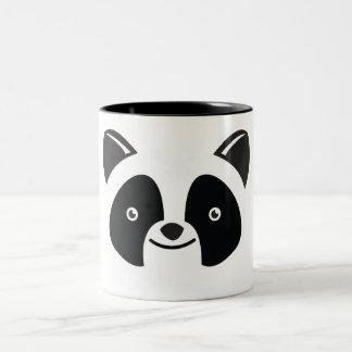 Panda Bear Kawaii face Two-Tone Coffee Mug