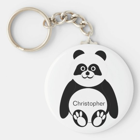 Panda Bear Keychain Just Add Name