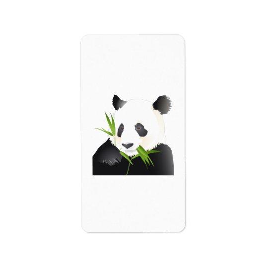 Panda Bear Label