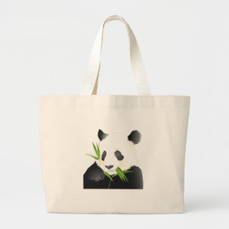 Panda Bear Large Tote Bag