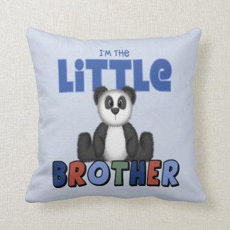 Panda Bear Little Brother Throw Pillows