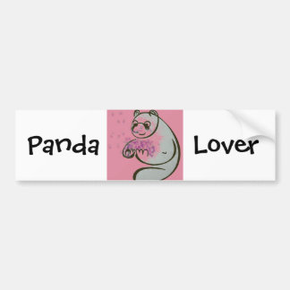 Panda Bear Love Car Bumper Sticker