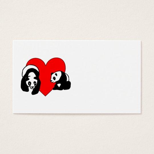 Panda Bear Love Business Card