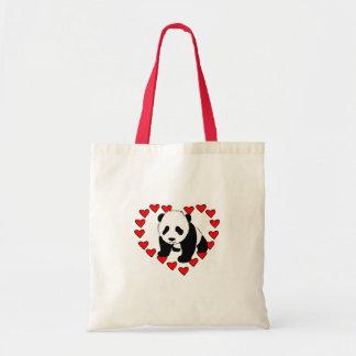 Panda Bear Love Canvas Bags
