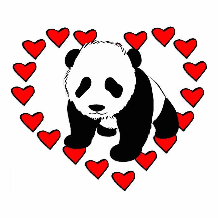 Panda Bear Love Cutout