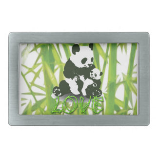 Panda Bear Love for her Baby Belt Buckle