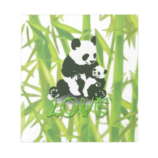 Panda Bear Love for her Baby Note Pad
