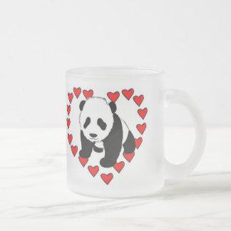 Panda Bear Love Frosted Glass Coffee Mug