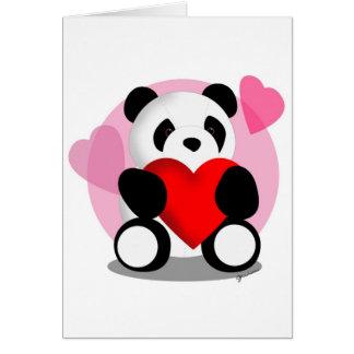 Panda Bear Love Greeting Card