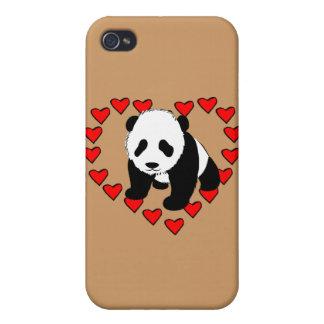 Panda Bear Love iPhone 4/4S Covers