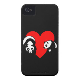 Panda Bear Love iPhone 4 Cover