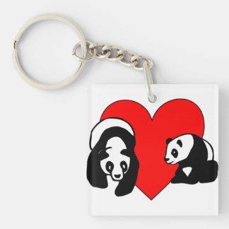 Panda Bear Love Keychain