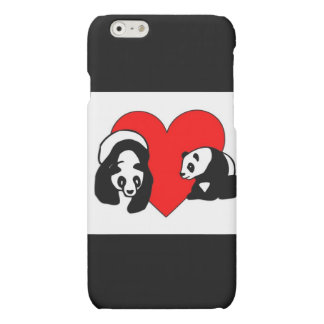 Panda Bear Love Matte iPhone 6 Case