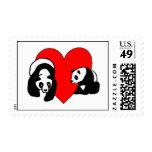 Panda Bear Love Postage Stamps