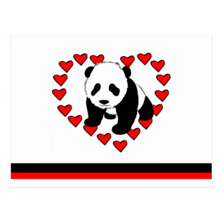 Panda Bear Love Postcard