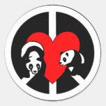 Panda Bear Love Sticker