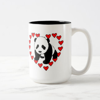 Panda Bear Love Two-Tone Coffee Mug