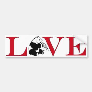 Panda Bear Lover Bumpersticker Bumper Sticker