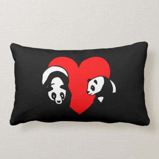 Panda Bear Lumbar Pillow