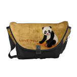 Panda Bear Messenger Bags